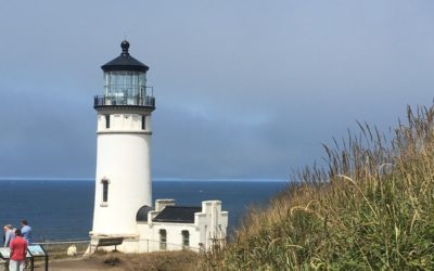 North Head Lighthouse on Washington State coast, part of Cape Disappointment State Park.
